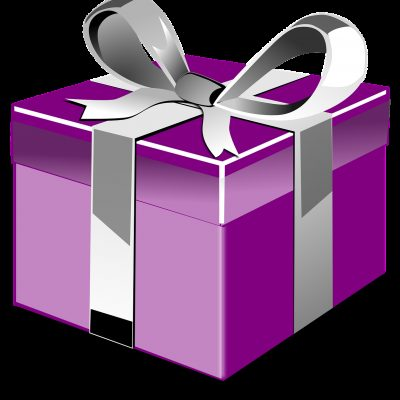 box, present, purple